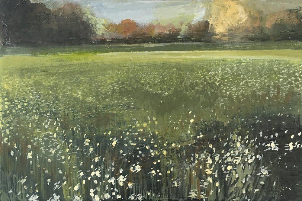 Verdent Heath, Acrylic on canvas, 20 x 30 cm, £300