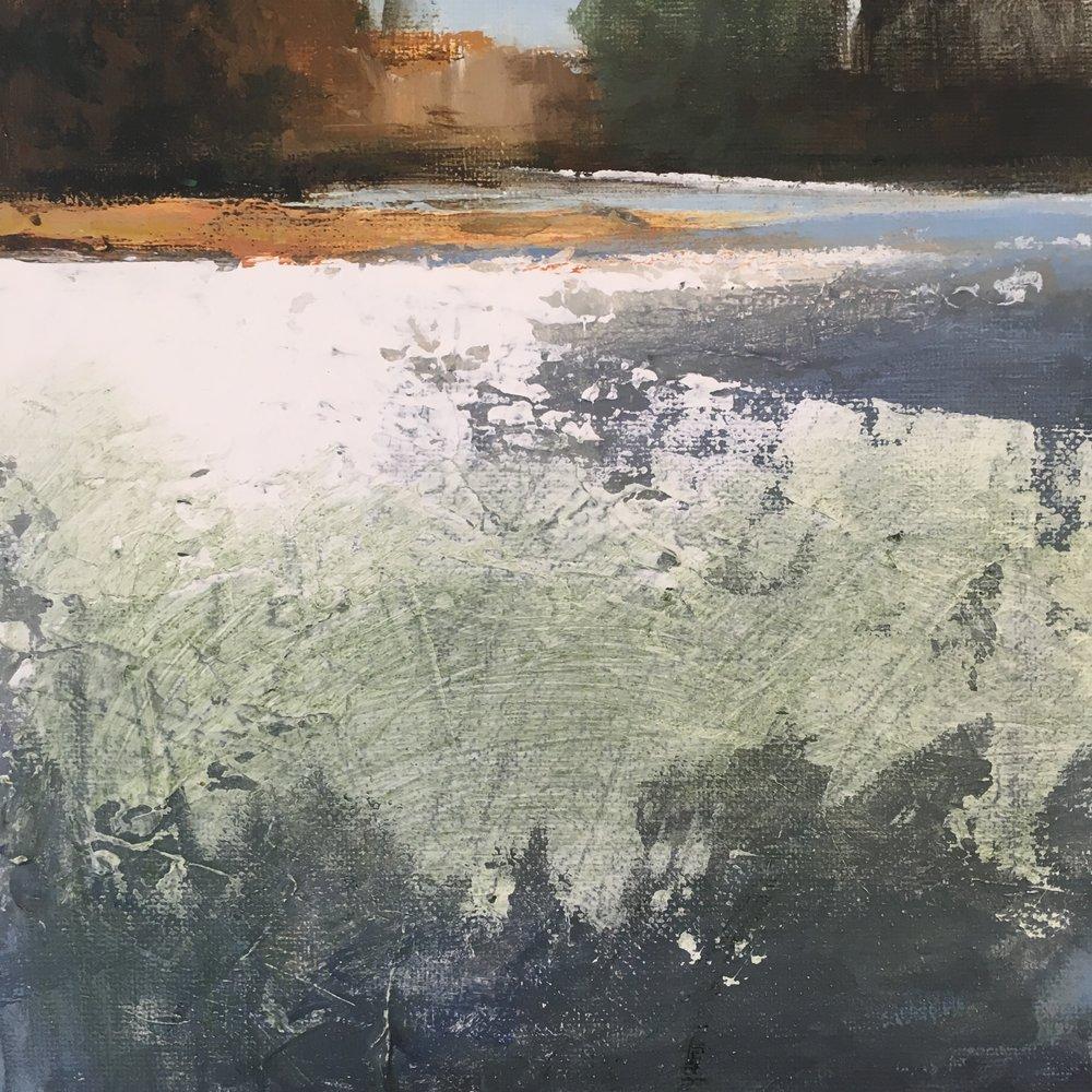 Melting Field, Acrylic on canvas, 20 x 20 cm, £200