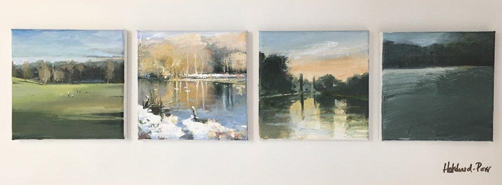 Heath Series (I,II), Acrylic on canvas, 30 x 60 cm, £650 – £100 each