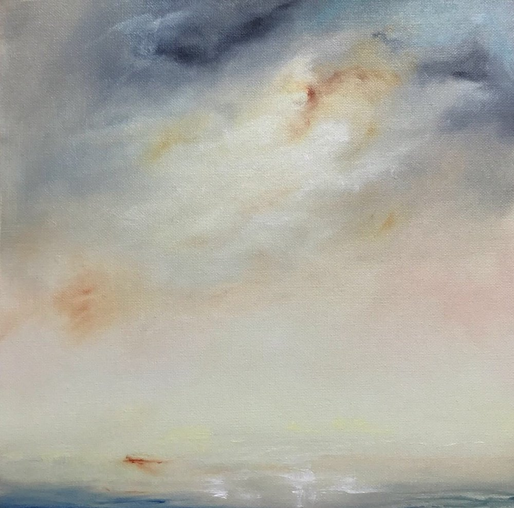 Light on Water, Oil on canvas, 30 x 30cm, £400