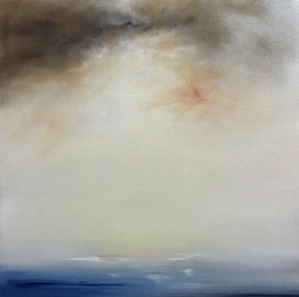 Passing Storm, Oil on canvas, 30 x 30cm, £400