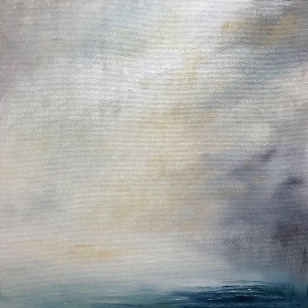 Rain on Water, Oil on canvas, 30 x 30cm, £400