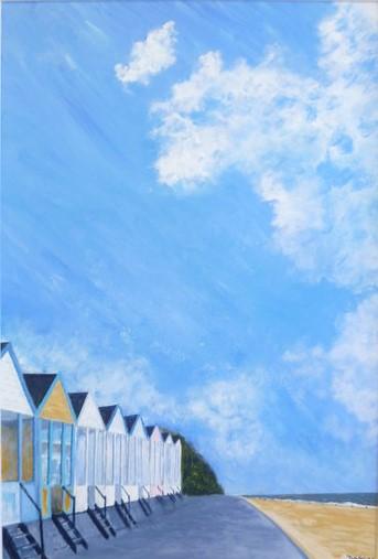 Beach Huts, Southwold, Acrylic on Canvas, 75 x 50cm, £950