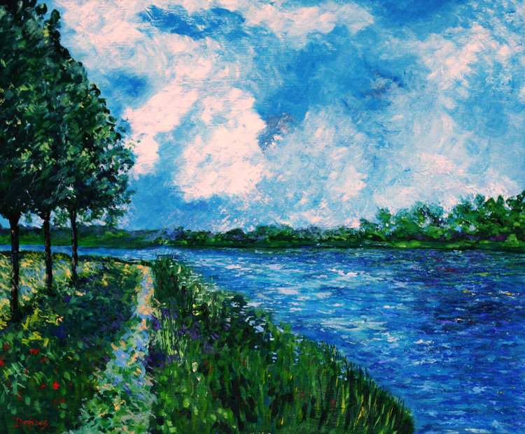 Morning Seine, Acrylic on Canvas, 50 x 60cm, £1250