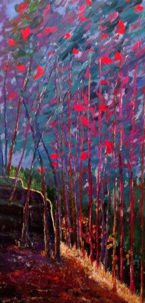 West Heath, Acrylic on Canvas, 100 x 50cm, £1250