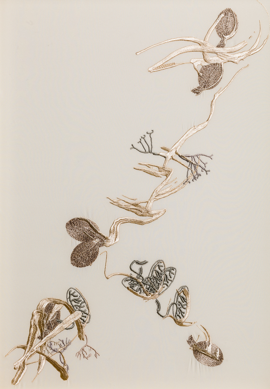 Triptych II, 100% Silk Crepe de Chine Satin,  47 x 65cm, £995