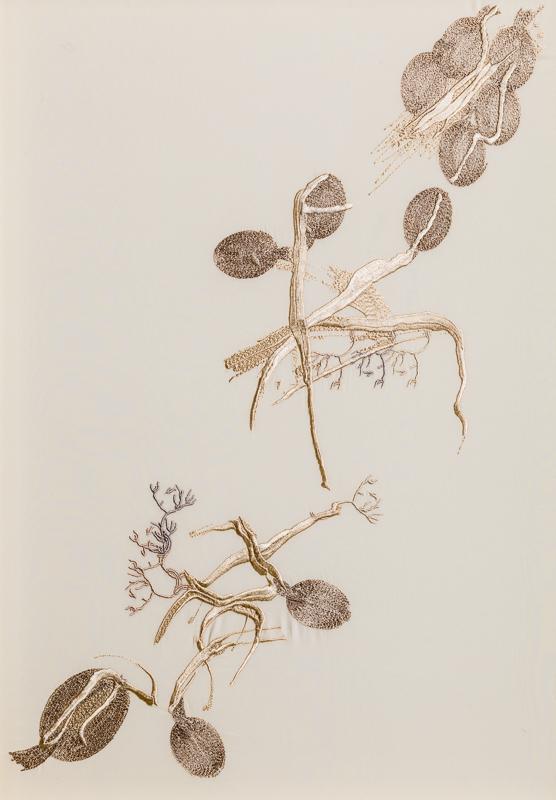 Entangled V, Triptych II, 100% Silk Crepe de Chine Satin, 47 x 65cm, £995