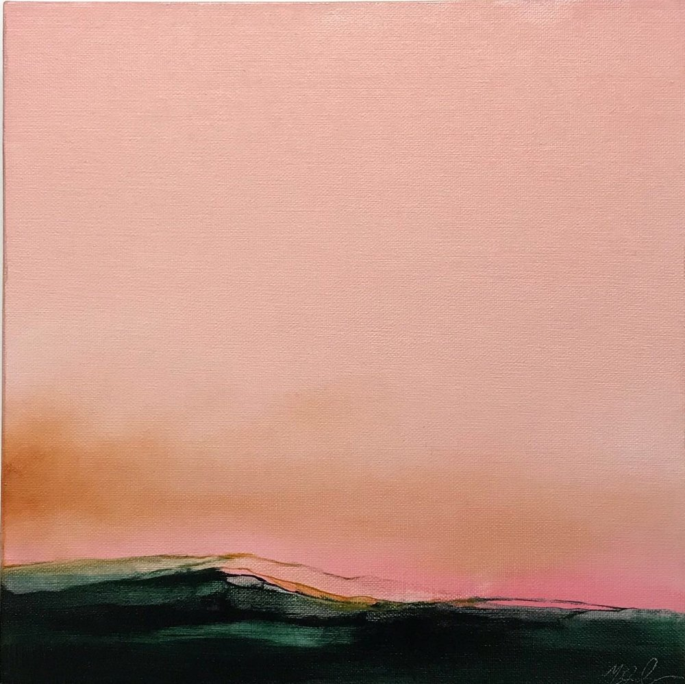 Viridian Hills  (2018), Oil on canvas, 30 x 30 cm