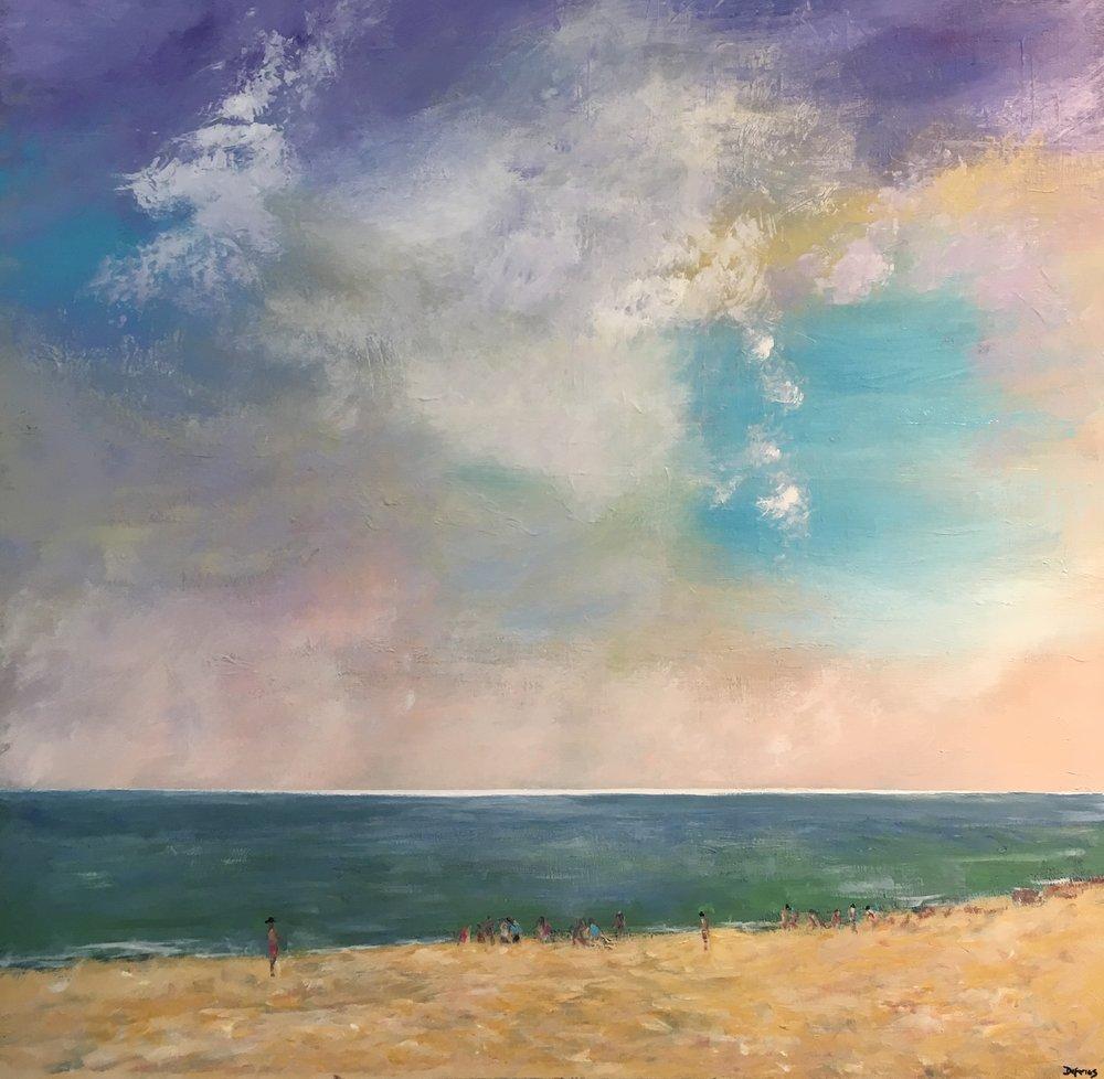 Dorset Coast, 100 x 100cm, £1250