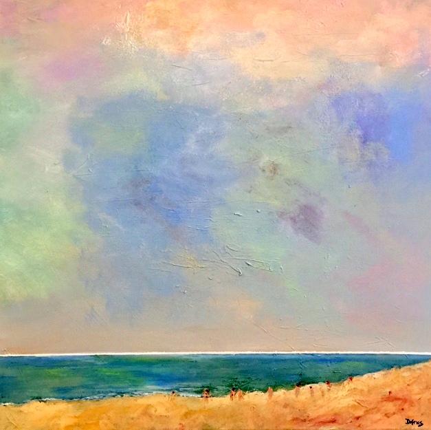 Suffolk Coast, 60 x 60cm, £750