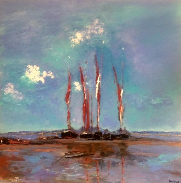 Suffolk Sailing, 60 x 60cm, £850