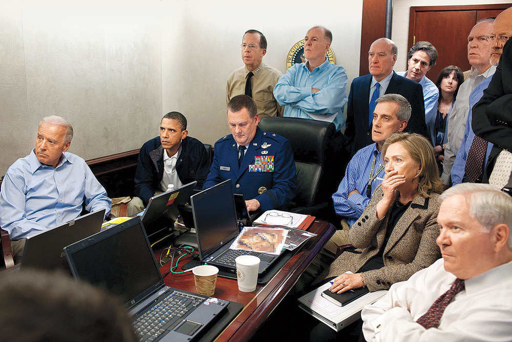 "Although not pictured in  The Situation Room , the tool was able to associate this image with ""Osama Bin Laden"" using other information from the internet to provide context to the photograph."