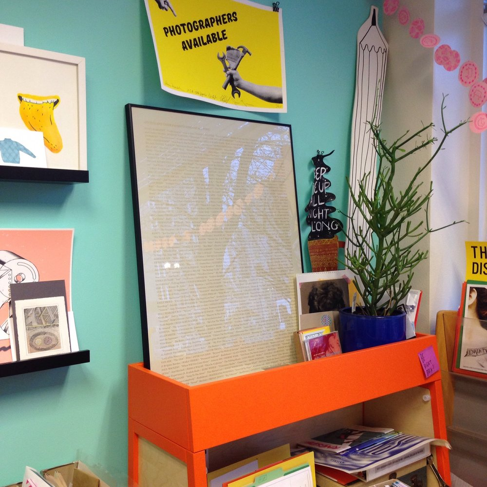 My piece lives in the office of Kate Bingaman-Burt