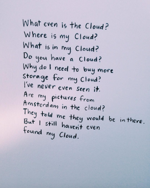 Day 84. A poem about the cloud. #iCloud #apple