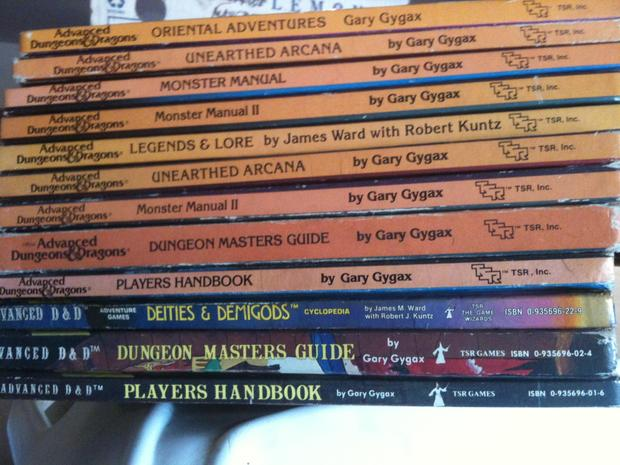 Advanced Dungeons and Dragons First Edition Books.