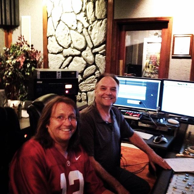 Barry McNair with John Nicholson at Hilltop Studios Nashville #