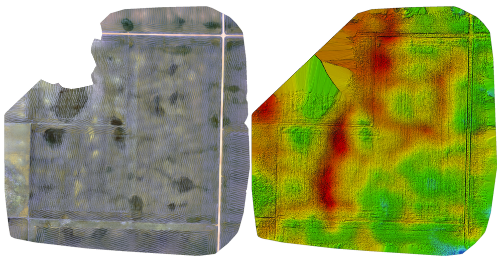 Elevation and Water Runoff Map's - With elevation maps of height change every 1/2in