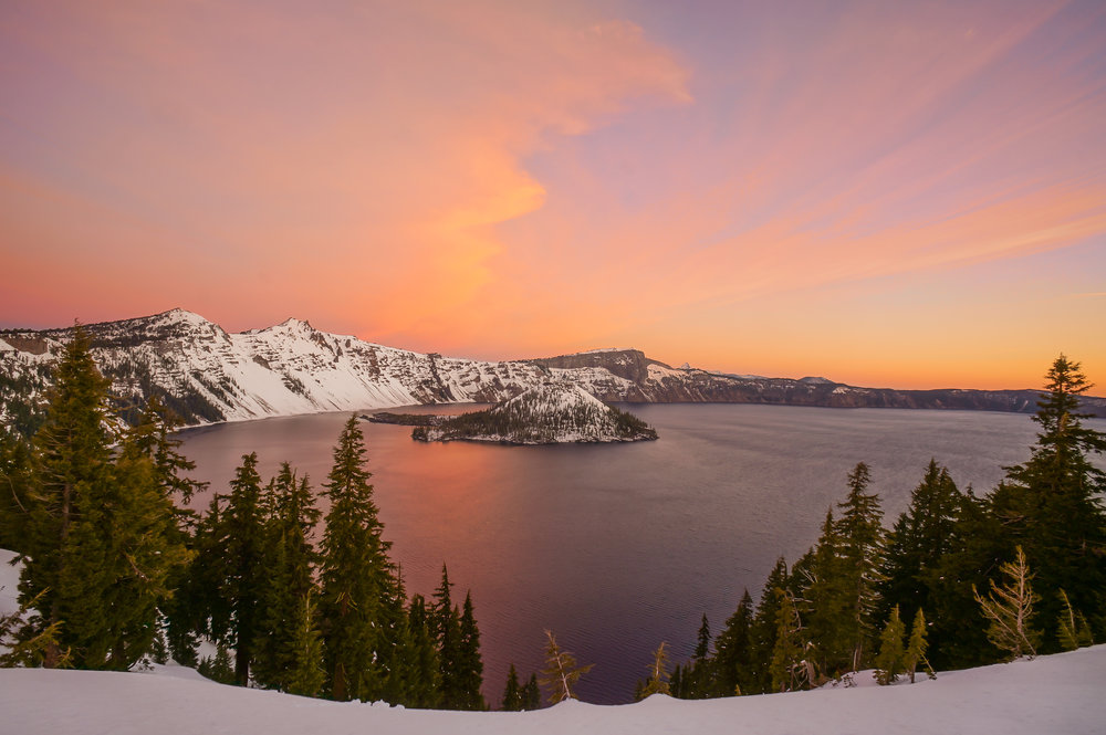Sunrise at Crater Lake National Park, Oregon