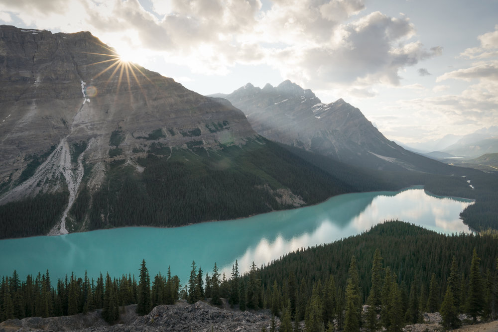 Sunset at Peyto Lake