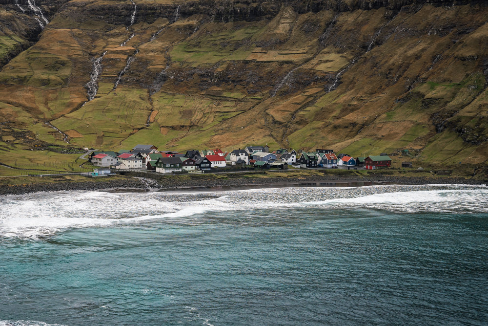 Distant town in the Faroe Islands