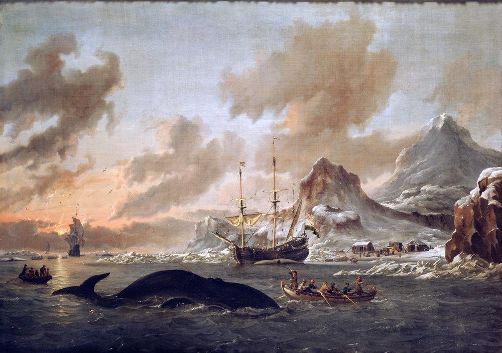 Dutch Whalers near Spitsbergen - Abraham Storck, 1690