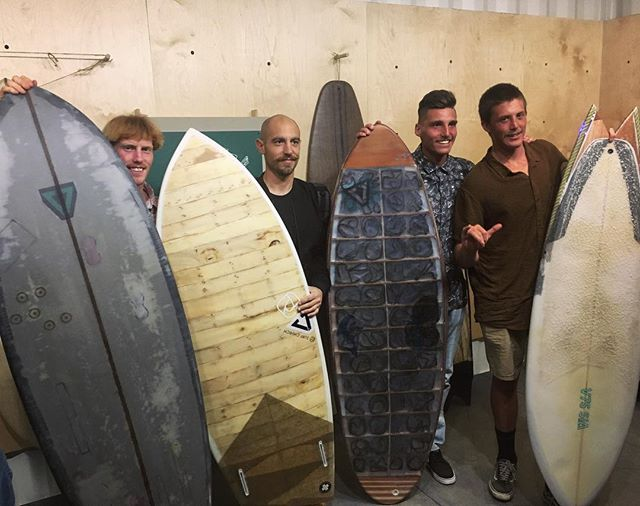 Our international sustainable design team made some magical surf crafts out of trash last year! Looking forward to the beautiful things they #upcycle in 2018!!!♻️🌍💪🏼