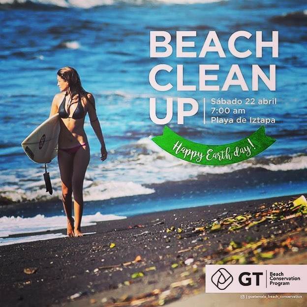 This upcoming weekend is #EarthDay and our worldwide team is doing their part to keep their little slice of coastal heavens free of litter! Here is the flier for our team in #Guatemala!!! @guatemala_beach_conservation is doing amazing things to keep our oceans clean and happy!