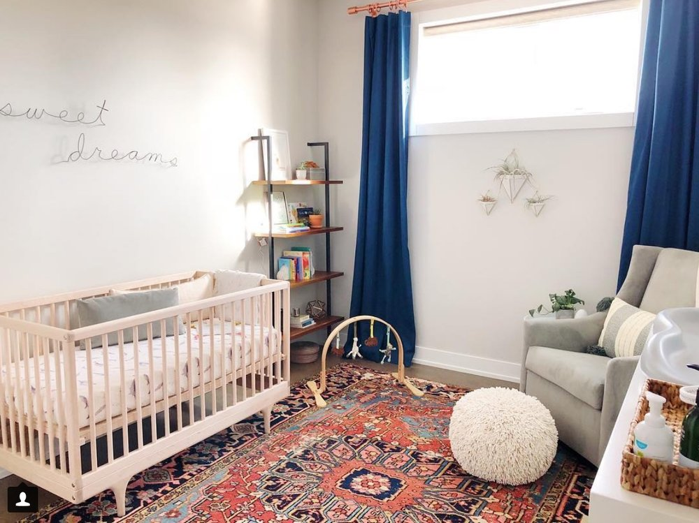 The finished nursery, ready for baby