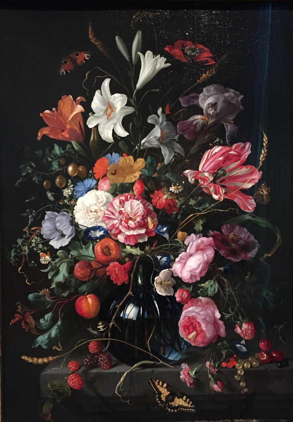 Vase of Flowers, by Jan Davidsz de Heem. 1670