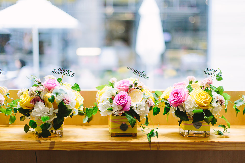 Pink lemonade arrangements! Photo: Anna Meyer Photo