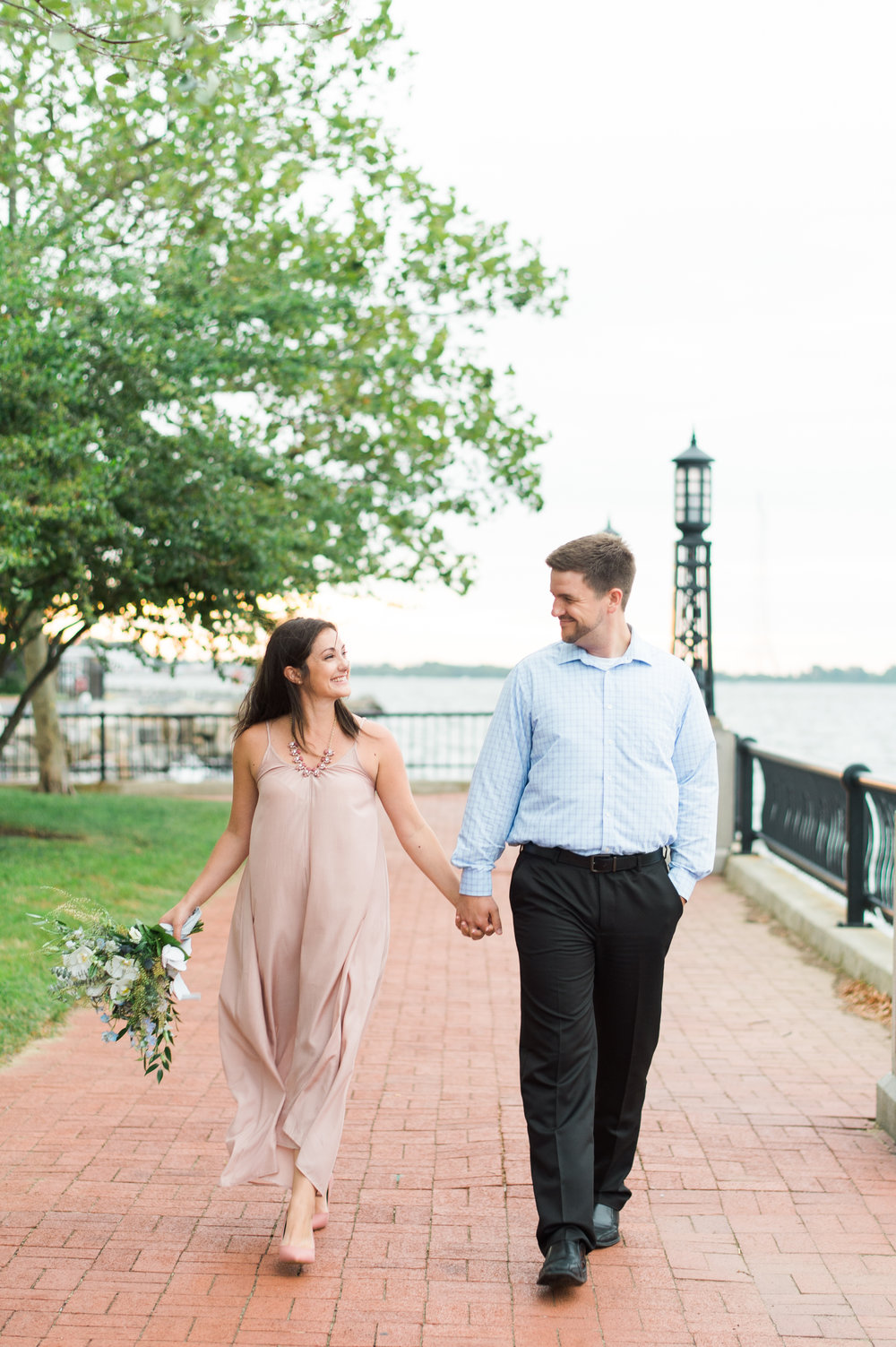 The happy couple along the waterfront in Annapolis. A sneak peak before their walk down the aisle.