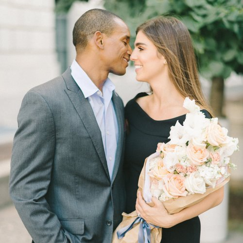 Sam & Damion by  Liz Fogarty   Featured in Washingtonian Weddings Print. Venue: District Winery
