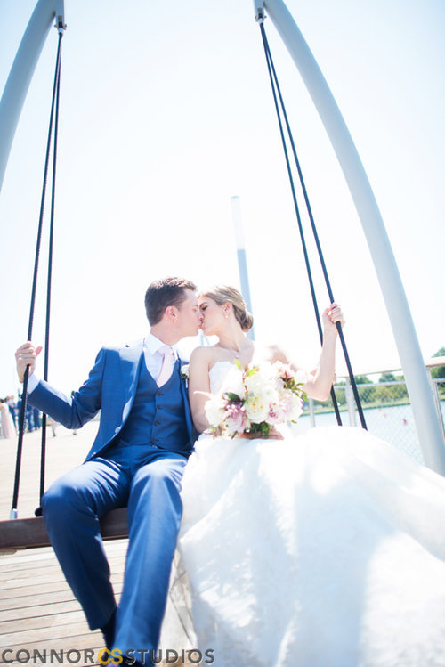 Erin and Ryan photographed by Connor Studios  Venue: Mandarin Oriental planned by Michael Deltette