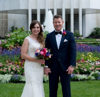 Stephanie & Jim by  Erin Tetterton Photography   Venue: Mormon Temple DC