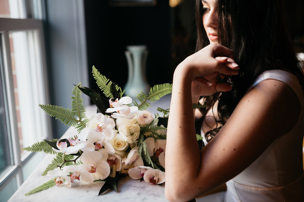 Atelier Ashley Flowers - Photo by Casey Crowe Taylor + Orchid Bouquet