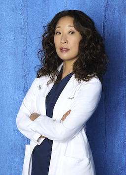 Christina Yang (Sandra Oh) is the very studious type--almost robotic--as she loves to learn constantly in Grey's Anatomy.