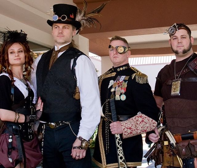 We felt inspired for new Steampunk Costumes after seeing this image! What is your favourite thing about this combination of Steampunkers? Ours is the one eye patch being showcased by the adventurer second on the right. #steampunkstyle #steampunktasmania #steampunktendencies
