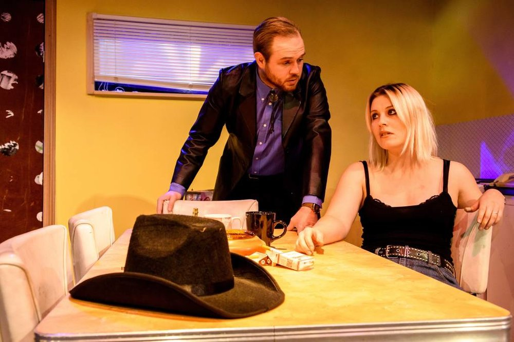 Grace in her role as Sharla Smith in the production 'Killer Joe'  (Courtesy of The Examiner Newspaper)