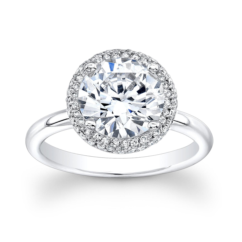 Roundcut Halo Engagement Ring