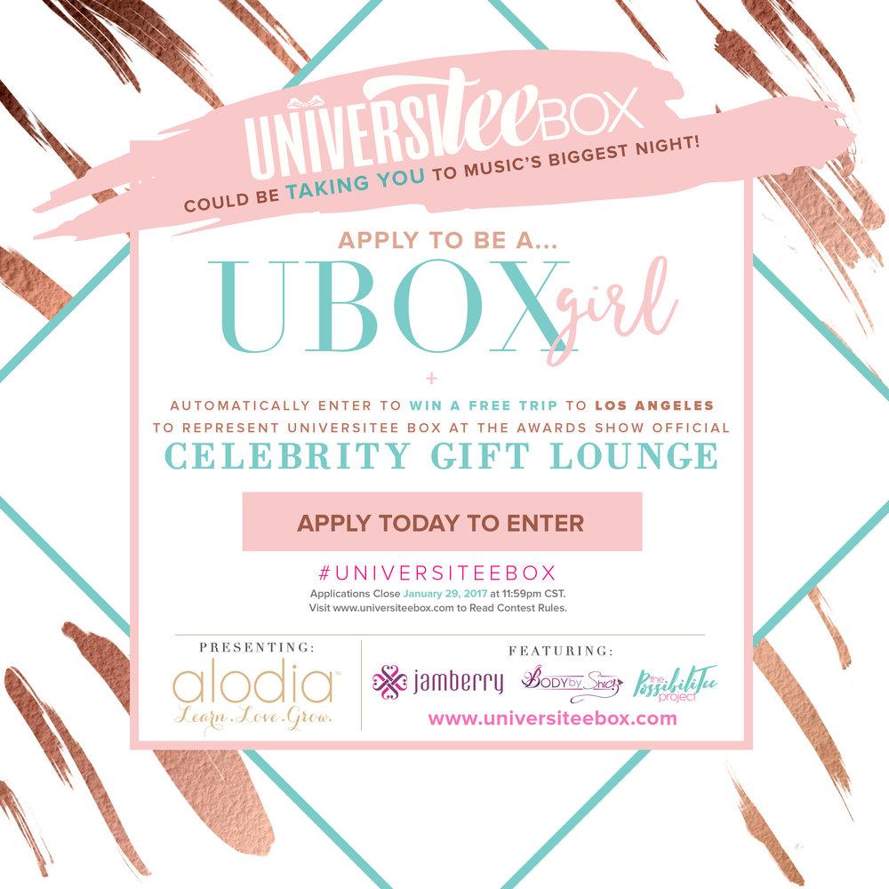 #UniversiTeeBox #UBOXGirl #UBOXGrammyEdition