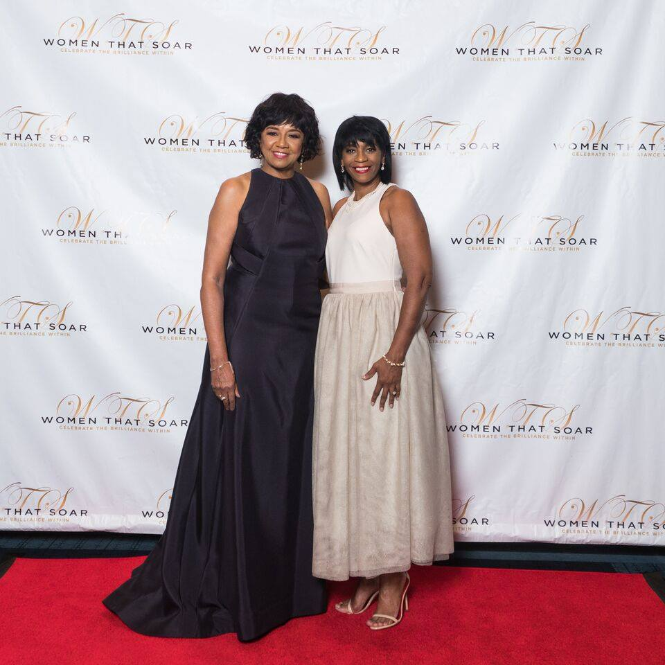 Gina Grant with Cheryl Boone Issacs.