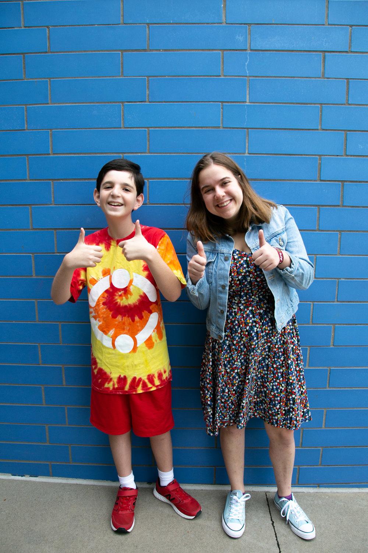 Brandon and his friend, Rebecca