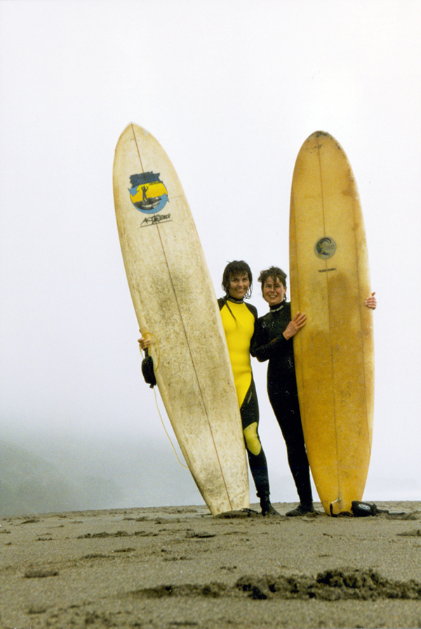 Heather and Martina at Stinson Beach, 1996