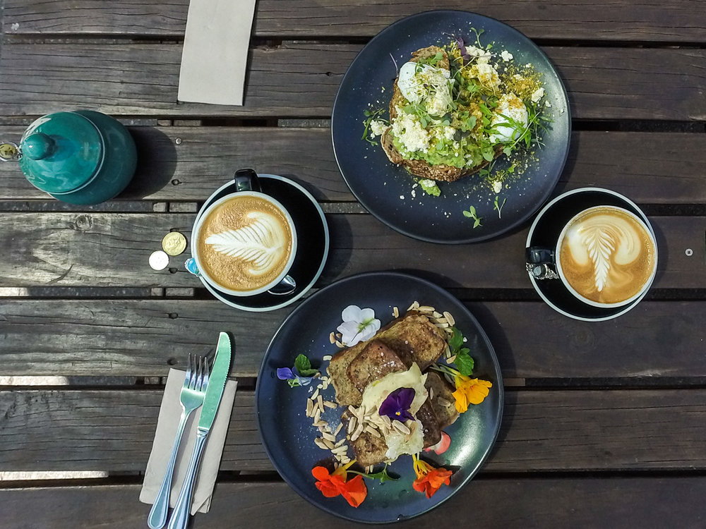 Great way to start the day with breakfast at the Addington Coffee Co-op.