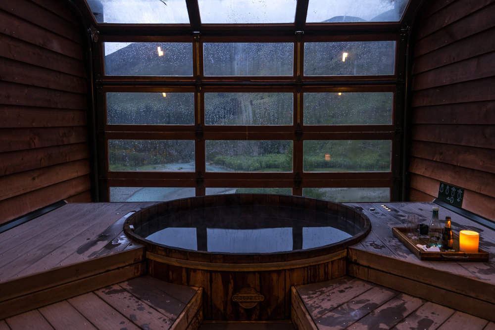 Onsen Hot Pools…best way to end any day! Wine and ice-cream.