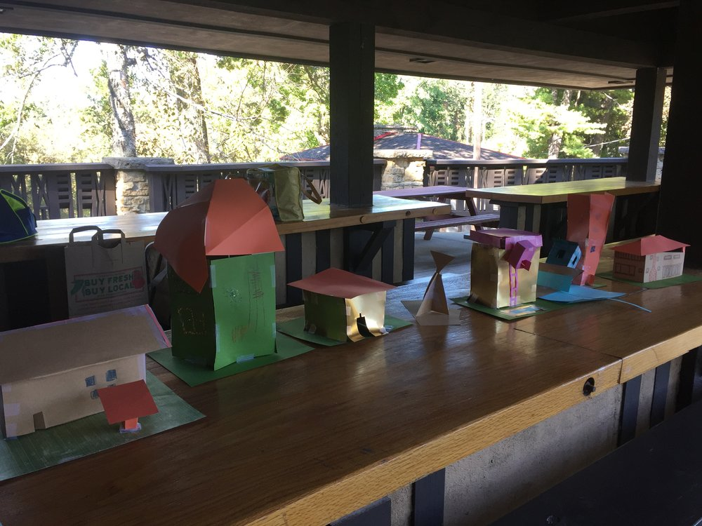 All ages participated in this Prairie Style architecture inspired craft.