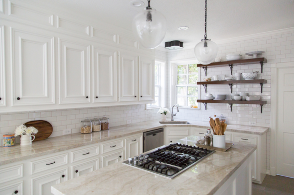 Taj Mahal Quartzite Countertops | Designed by Carla Aston | Image by Tori Aston