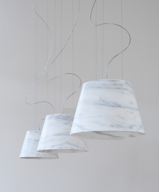 "Apuleio Lights    Bianco Carrara Marble  15"" x 15"""