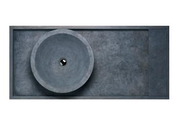 """Kyoto con Catino Suspended Basin     Pietra di Brera    Limestone    47"""" x 22"""""""