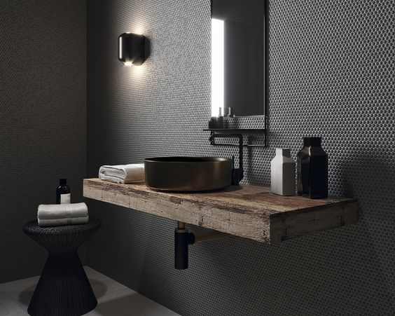 Vanity Feature Wall - Image from Pinterest